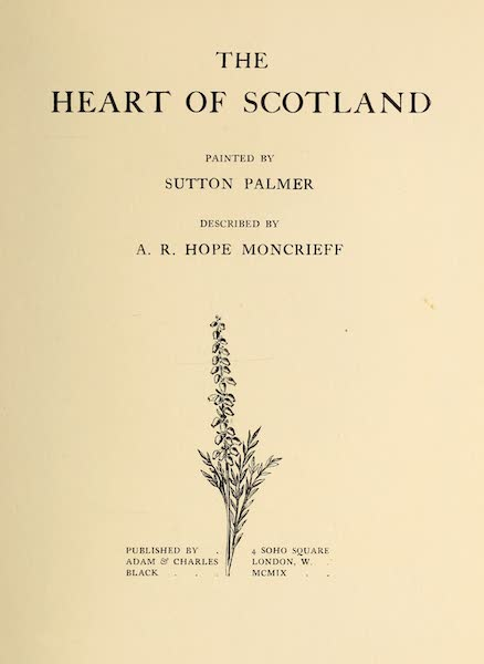 The Heart of Scotland Painted and Described - Title Page (1909)