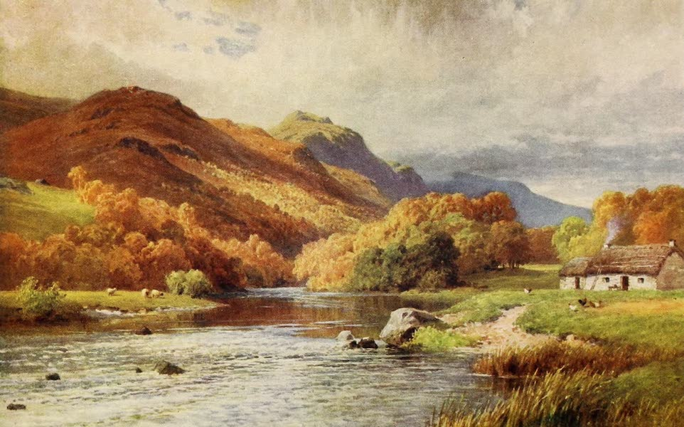 The Heart of Scotland Painted and Described - A Highland Cottage (1909)