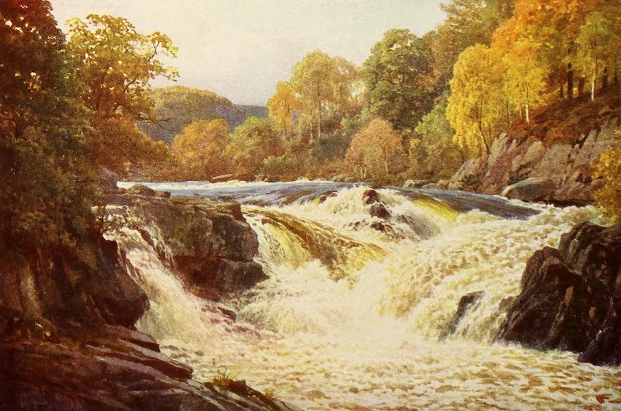 The Heart of Scotland Painted and Described - The Falls of Tummel (1909)