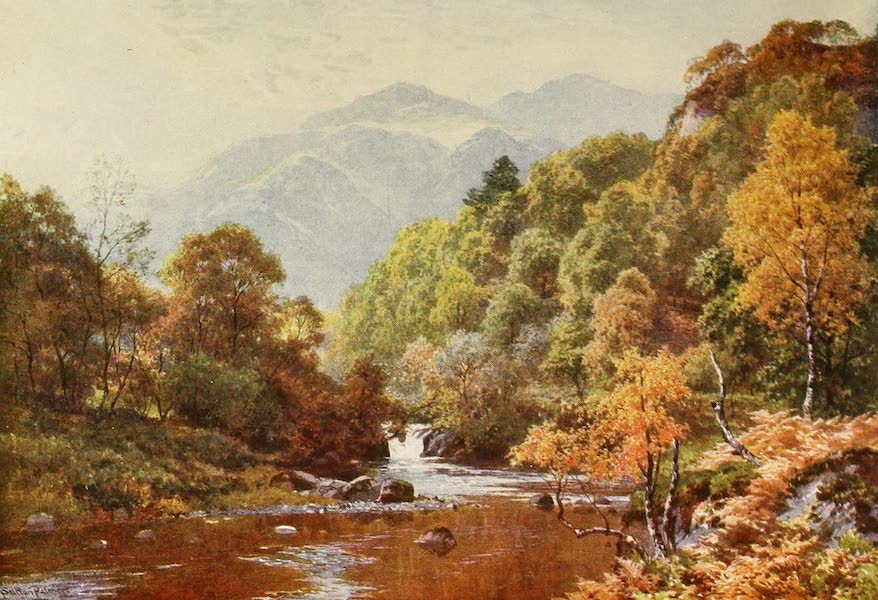 The Heart of Scotland Painted and Described - A Highland River (1909)