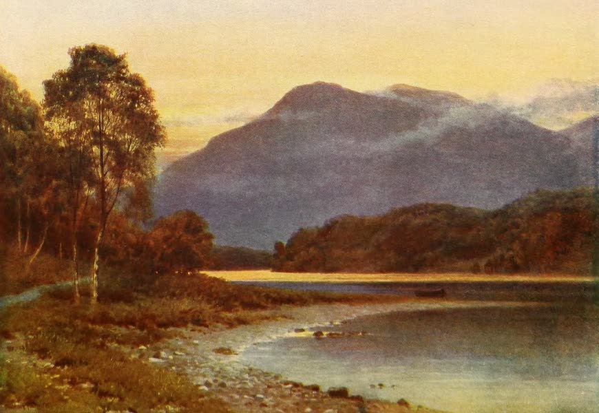 The Heart of Scotland Painted and Described - Silver Strand, Loch Katrine (1909)