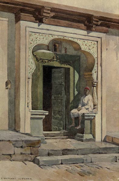 The High-Road of Empire - A Doorway, Poona (1905)