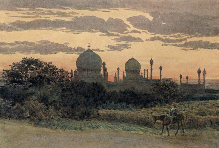 The High-Road of Empire - Sunset Behind the Ibrahim Roza, Bijapur (1905)