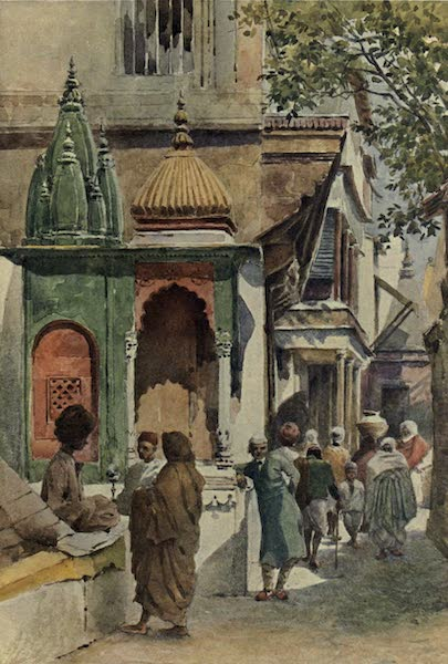The High-Road of Empire - A Corner Shrine in a Benares Alley (1905)