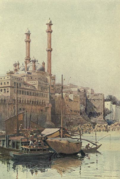 The High-Road of Empire - The Ghats Below Aurangzeb's Mosque, Benares (1905)