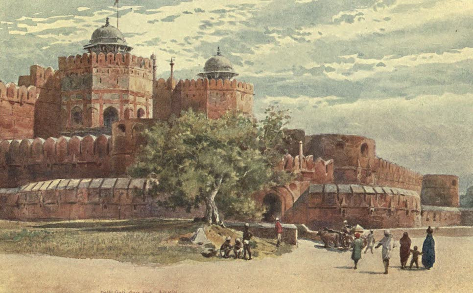 The High-Road of Empire - Agra Fort - Outside the Delhi Gate (1905)