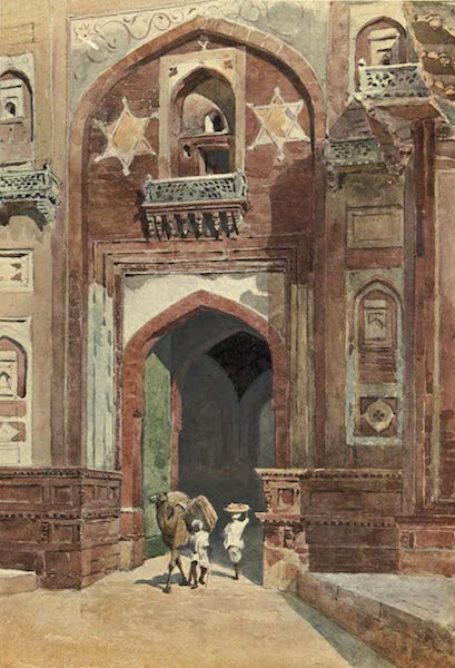 The High-Road of Empire - Agra Fort - Inside the Delhi Gate (1905)