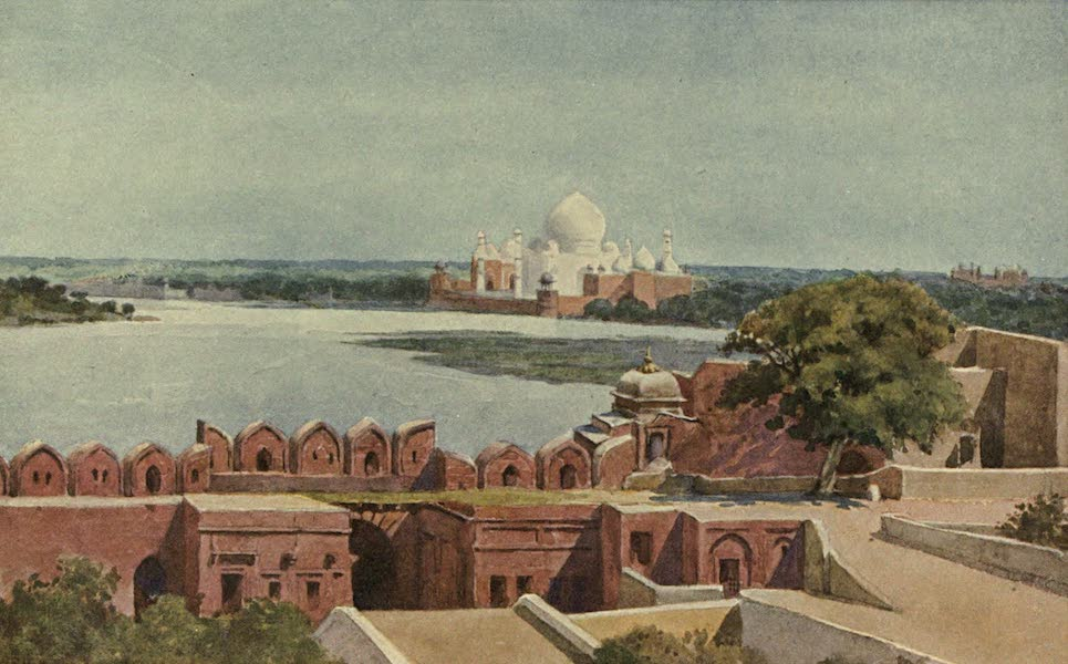 The High-Road of Empire - The Taj from the Fort, Agra (1905)