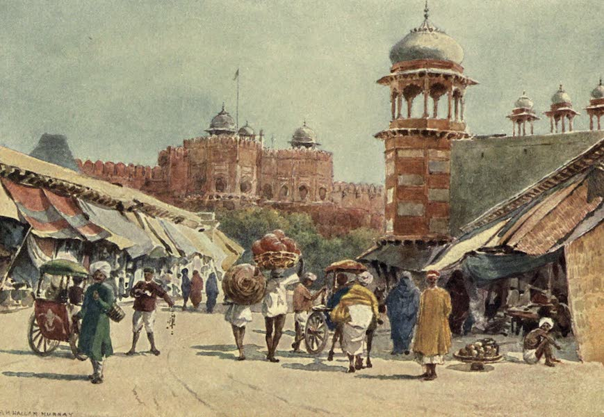 The High-Road of Empire - The Bazaar, Agra (1905)