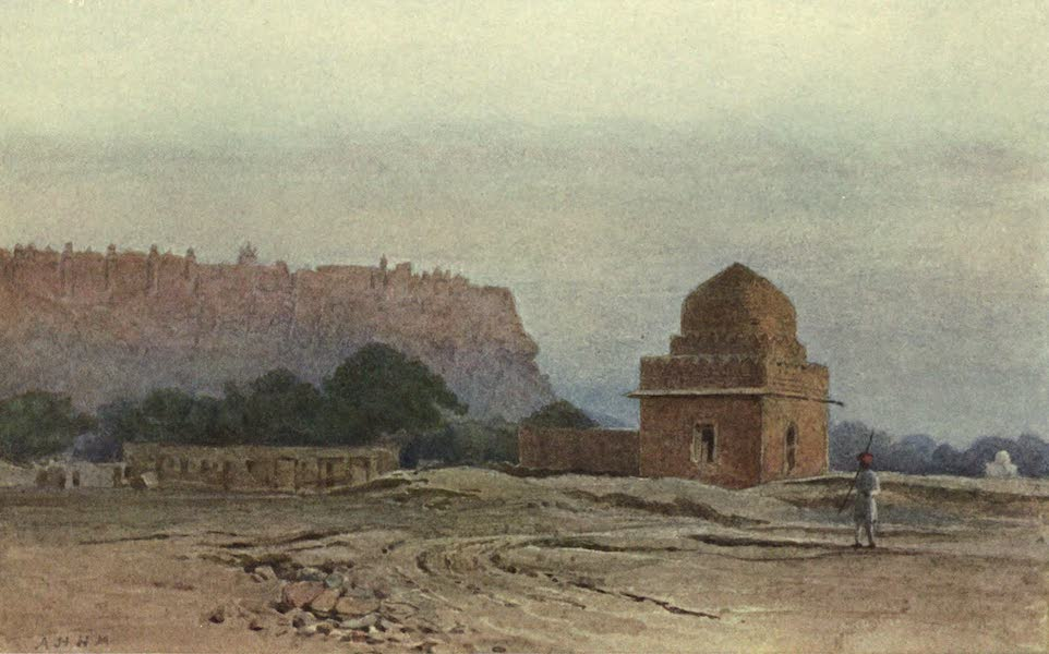 The High-Road of Empire - Gwalior Fort Before Sunrise (1905)