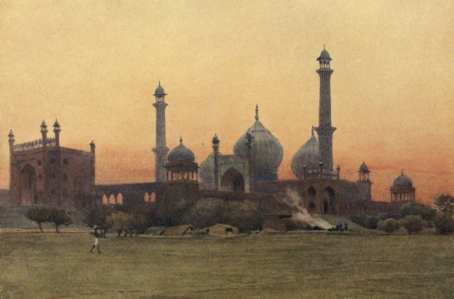 The High-Road of Empire - The Jumma Musjid, Delhi - At Sunset (1905)
