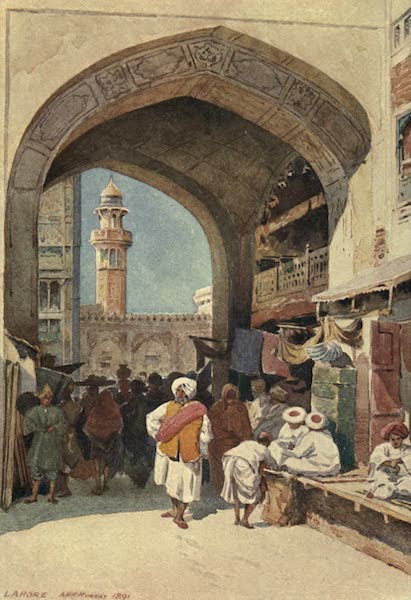 The High-Road of Empire - A Gateway in the Bazaar, Lahore (1905)