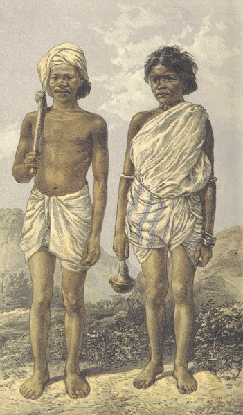 The Highlands of Central India - Male and Female Gond (1871)