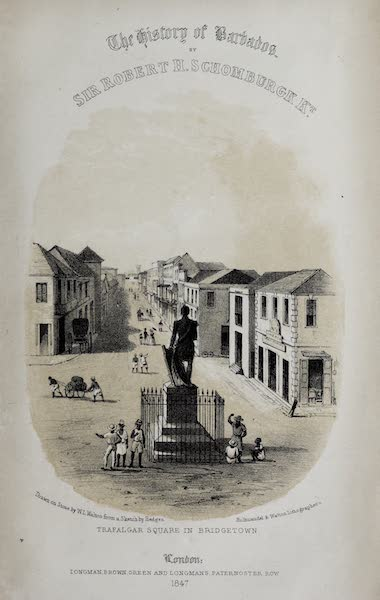 The History of Barbados - Illustrated Title Page (1848)