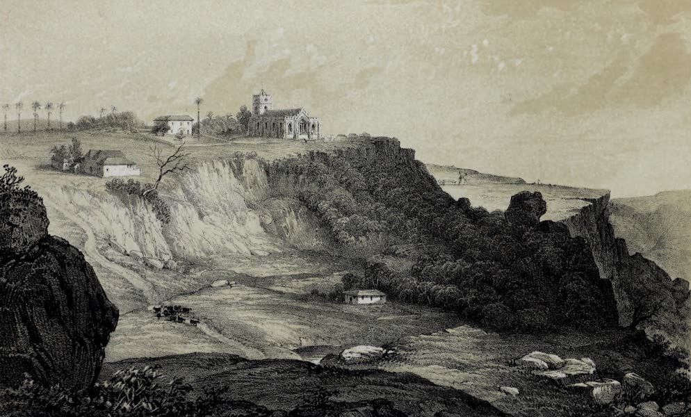 The History of Barbados - St. Johns Church and Hackleton's Cliff (1848)