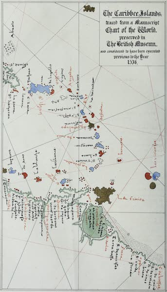 The History of Barbados - The Caribee Islands Traced from a Manuscript Chart of the World (1848)
