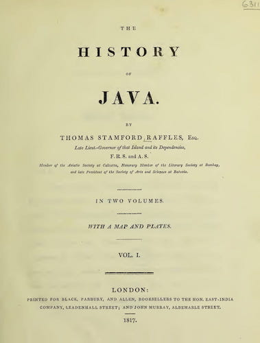 Wellcome Collection - The History of Java Vol. 1