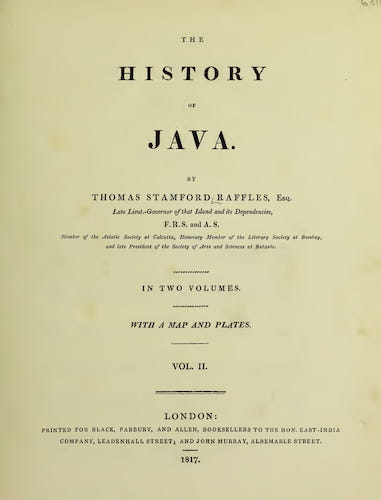 Wellcome Collection - The History of Java Vol. 2