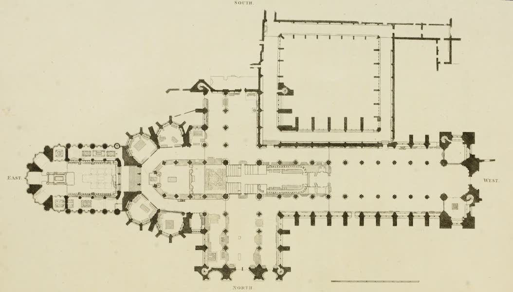 The History of the Abbey Church of St. Peter's Westminster Vol. 1 - Plan of Westminster Abbey (1812)