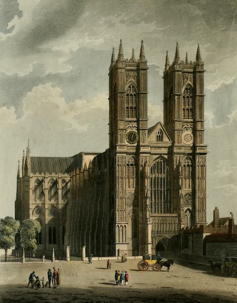The History of the Abbey Church of St. Peter's Westminster Vol. 1 - West Front of Westminster Abbey (1812)