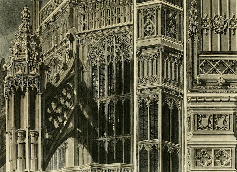 The History of the Abbey Church of St. Peter's Westminster Vol. 2 - Fragments & Parts of the Exterior of Henry VII Chapel, Westminster Abbey (1812)