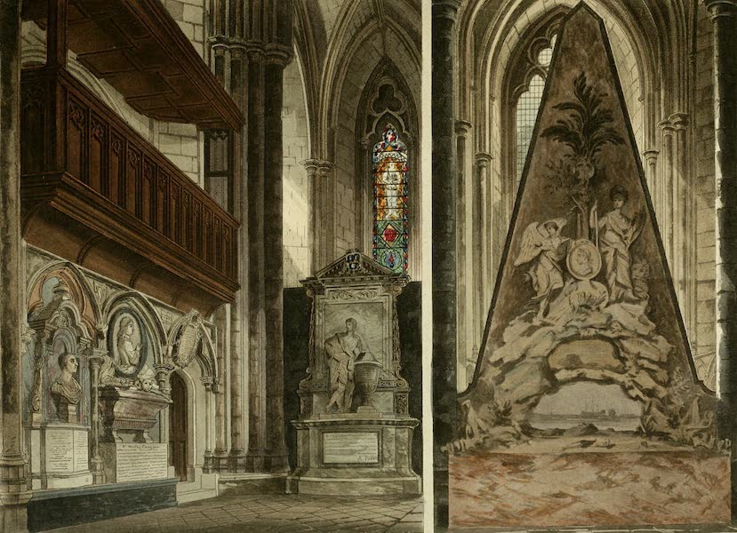 The History of the Abbey Church of St. Peter's Westminster Vol. 2 - West Entrance, turning to the right - Westminster Abbey (1812)