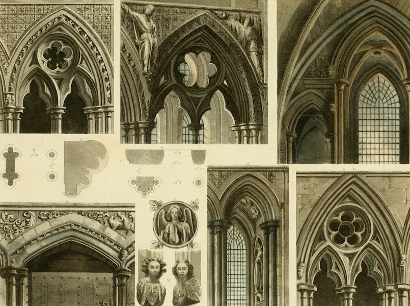 The History of the Abbey Church of St. Peter's Westminster Vol. 2 - Fragments & Arches in Westminster Abbey (1812)