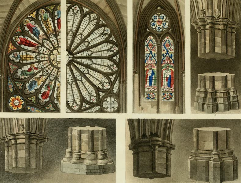 The History of the Abbey Church of St. Peter's Westminster Vol. 2 - Fragments, Parts, Windows, Pillars &c &c, Westminster Abbey (1812)
