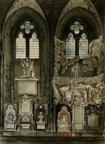 The History of the Abbey Church of St. Peter's Westminster Vol. 2 - Second & Third Window, South Aisle (1812)