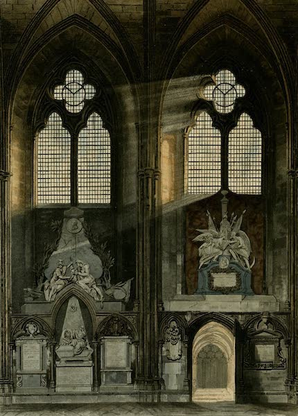 The History of the Abbey Church of St. Peter's Westminster Vol. 2 - Fourth & Fifth Window, South Aisle (1812)