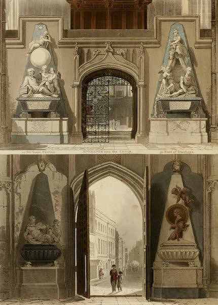 The History of the Abbey Church of St. Peter's Westminster Vol. 2 - West Entrance (1812)