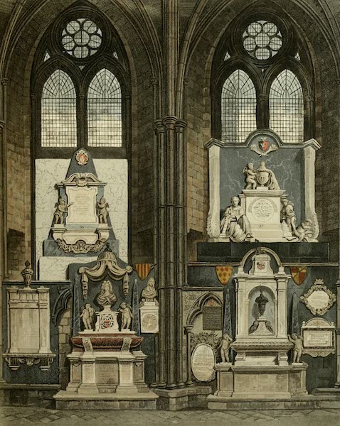 The History of the Abbey Church of St. Peter's Westminster Vol. 2 - Eighth & Ninth Window, South Aisle (1812)