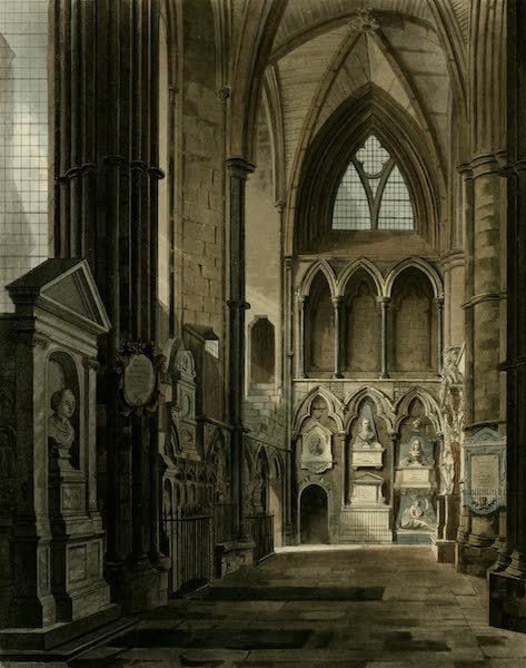 The History of the Abbey Church of St. Peter's Westminster Vol. 2 - Entrance to Poets Corner, Westminster Abbey (1812)