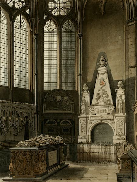 The History of the Abbey Church of St. Peter's Westminster Vol. 2 - West View of St. Nicholas Chapel (1812)