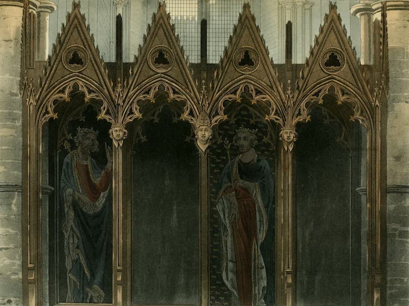 The History of the Abbey Church of St. Peter's Westminster Vol. 2 - Interior of King Serbert's Monument (1812)