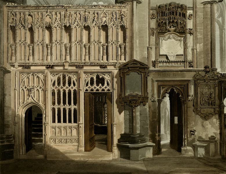 The History of the Abbey Church of St. Peter's Westminster Vol. 2 - The Screen of Abbot Islip's Chapel & the Entrance to the Chapel of St. Erasmus (1812)
