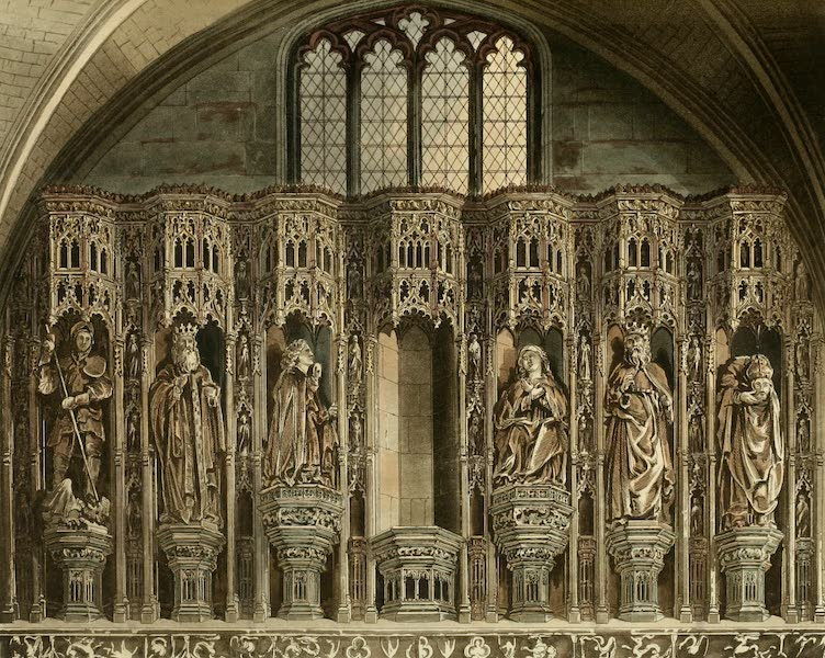 The History of the Abbey Church of St. Peter's Westminster Vol. 2 - Screen over the Chantry of Henry V (1812)