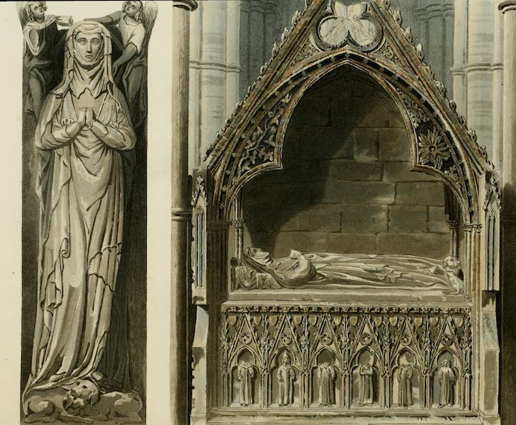 The History of the Abbey Church of St. Peter's Westminster Vol. 2 - Aveline, first wife of Edmund Crouchback, Earl of Lancaster, on the North Side of the Altar in Westminster Abbey (1812)