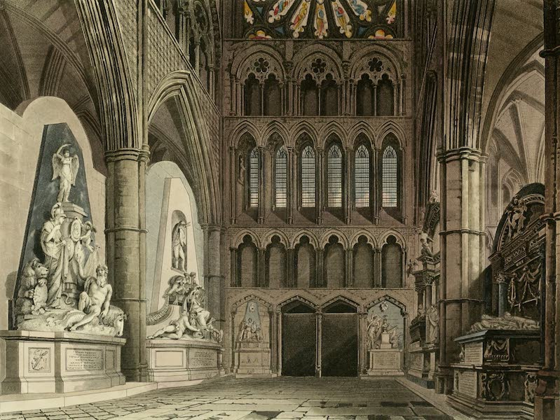 The History of the Abbey Church of St. Peter's Westminster Vol. 2 - North Entrance. Westminster Abbey (1812)