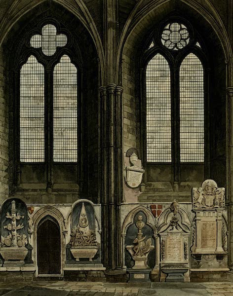 The History of the Abbey Church of St. Peter's Westminster Vol. 2 - 4th and 4th Window, North Aisle (1812)