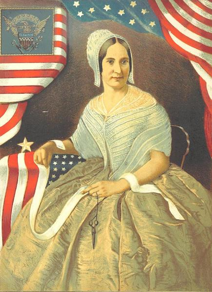 The History of the First United States Flag - Mrs. Betsy Ross Portrait (1878)