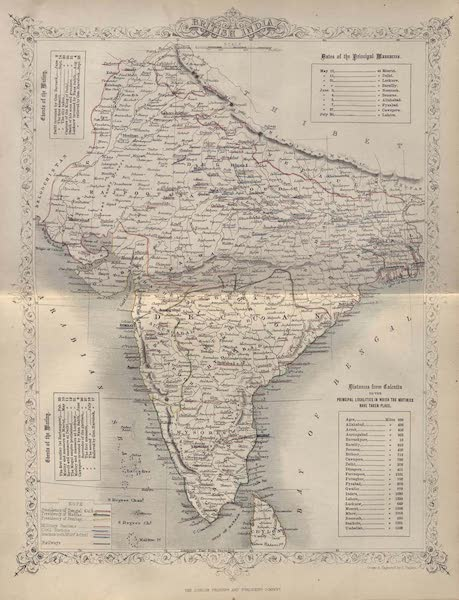 The History of the Indian Mutiny Vol. 1 - Map of India (1858)