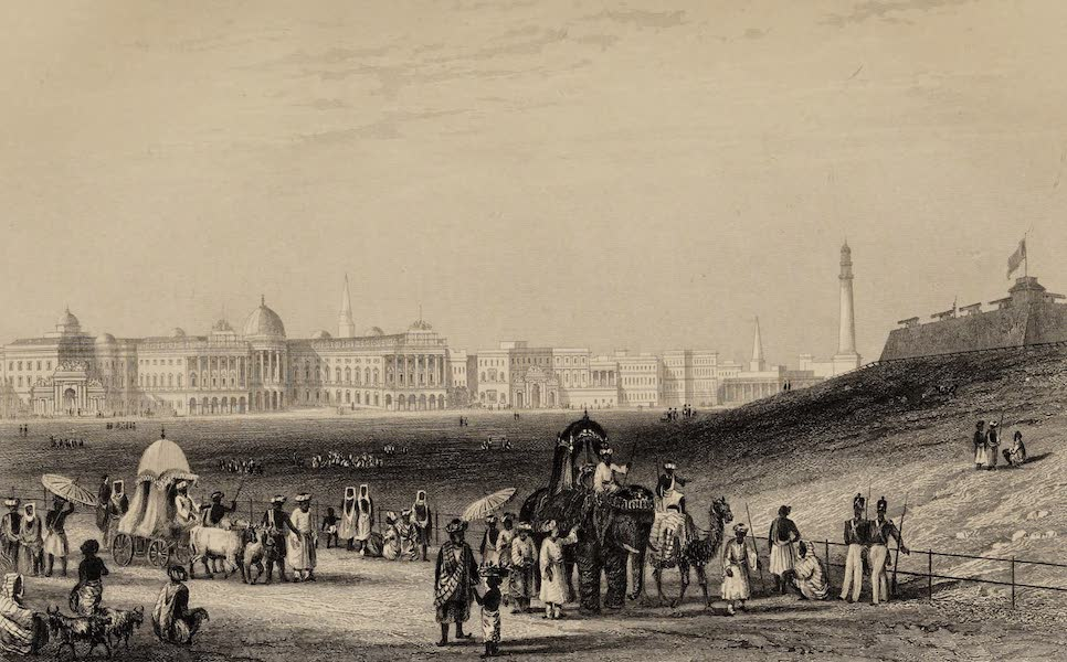 The History of the Indian Mutiny Vol. 1 - View of Calcutta from the Esplanade. No. 1. (1858)