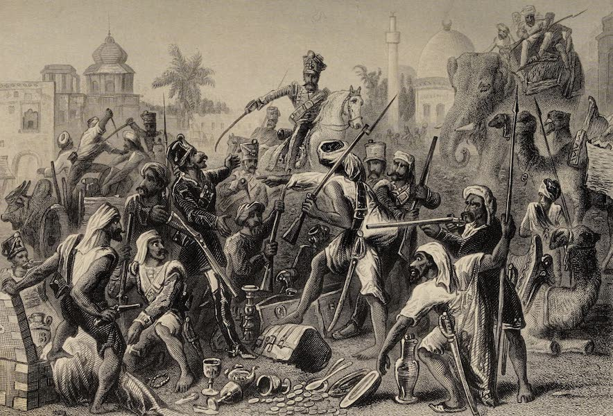 The History of the Indian Mutiny Vol. 1 - Mutinous Sepoys Dividing Spoil (1858)