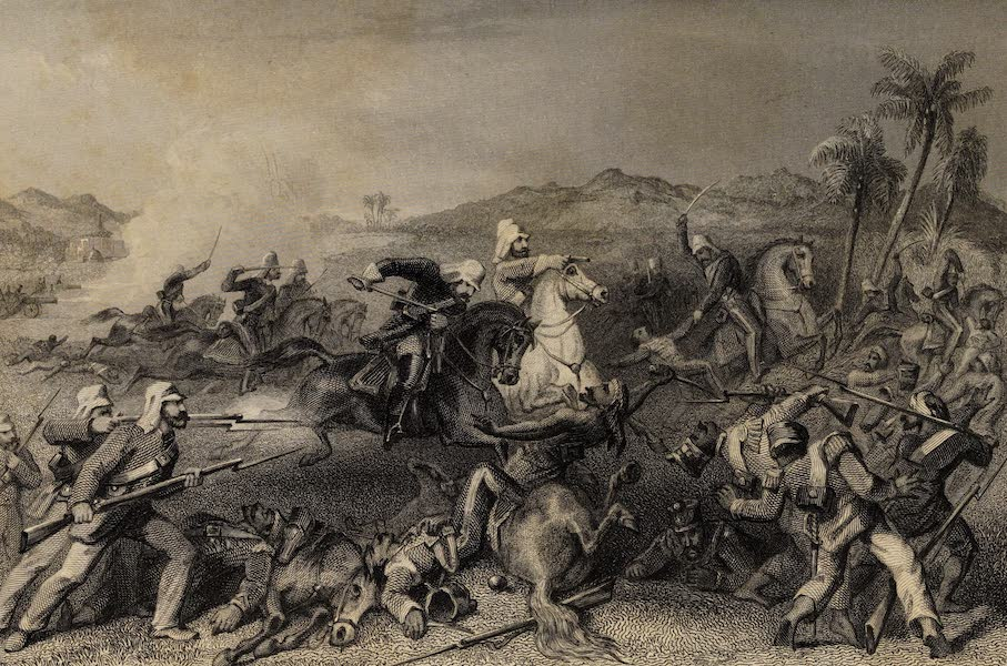 The History of the Indian Mutiny Vol. 1 - Attack of the Sealkote Mutineers by General Nicholson's Irregular Cavalry (1858)