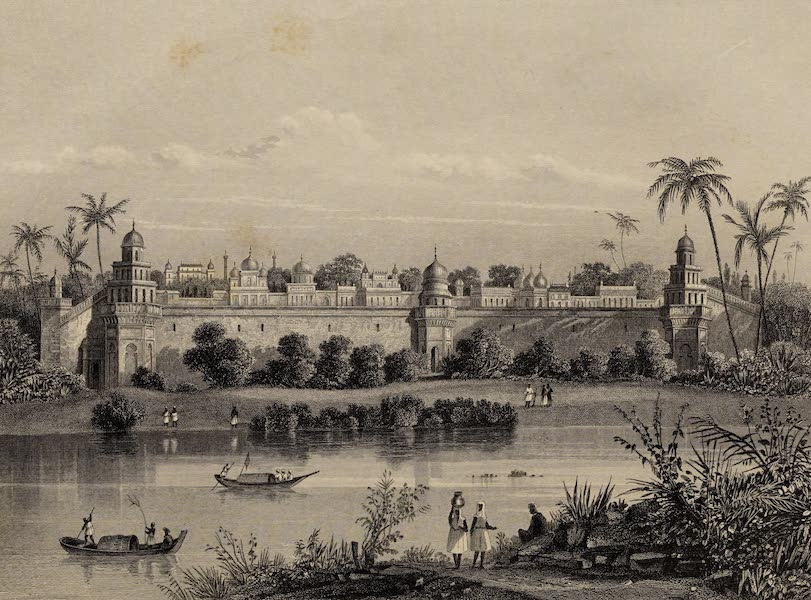 The History of the Indian Mutiny Vol. 2 - View of the Palace of Agra, from the River (1859)