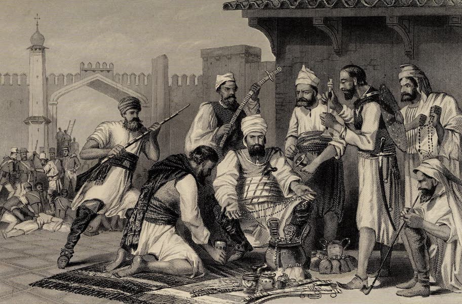 The History of the Indian Mutiny Vol. 2 - Sikh Troops Dividing the Spoil taken from Mutineers (1859)