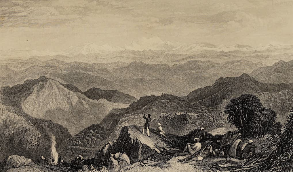 The History of the Indian Mutiny Vol. 2 - Snowing Range, from Tyne or Marma (1859)
