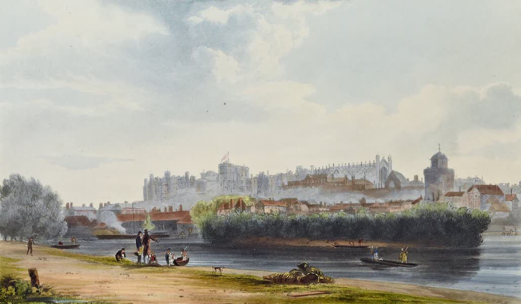 History of the Royal Residences Vol. 1 - North Front of Windsor Castle (1819)