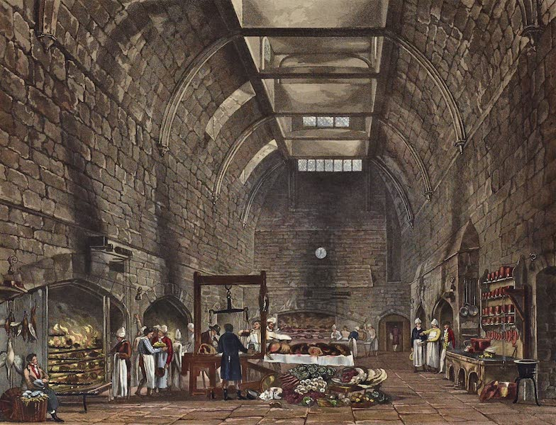 History of the Royal Residences Vol. 1 - Ancient Kitchen, Windsor Castle (1819)
